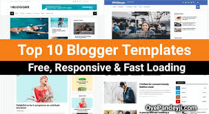 Top 10 Free Responsive Fast Loading Blogger Template 2019