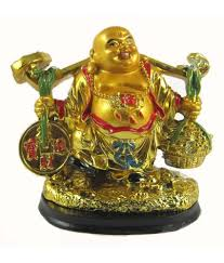 Odishabazaar Feng Shui Laughing Buddha With Money Begs For Wealth And  Prosperity(11x12x7 Cm)