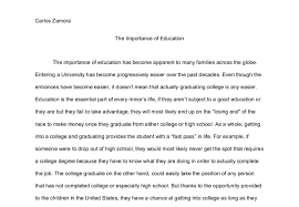 an essay about the importance of education education essay community education portal