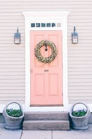 Coral Front Door The Perfect Paint Colors For Front Doors Home Decor Design