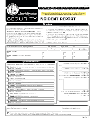 Write Security Guard Incident Report Magdalene Project Org