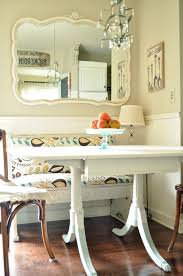 image breakfast nook september decorating. Cute Kitchen Breakfast Nook With Dip-dyed Table Legs Image September Decorating O