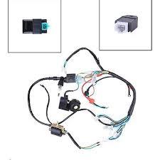 cc mini atv complete wiring harness cdi stator 50 70 90 110 125cc mini atv complete wiring harness cdi stator ignition electric 2