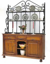 Jasper Curio Cabinet Amish Heirloom Buffet With Bakers Rack