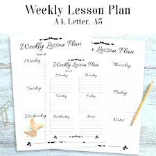Sample Weekly Lesson Plan Fascinating Sample Lesson Plan Template For High School Charming Ideas Examples