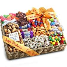 golden state fruit birthday party chocolate cans and crunch gift basket