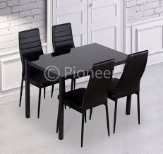 faux leather easy clean brand new glass dining table with