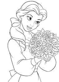 belle printable coloring pages medium size of