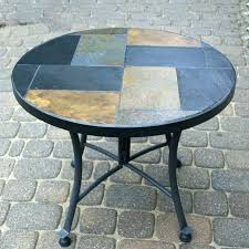 mosaic outdoor table set side small size of top patio accent tile indoor
