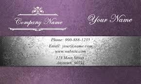 Purple Event Planning Business Card Design 2301201