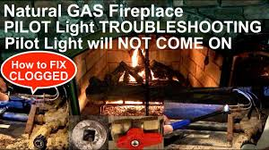 Fireplace Pilot Light How To Fix Pilot Light Troubleshoot Pilot Light Fireplace Natural Gas How To Unclog Pilot Light