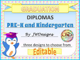Preschool Graduation Certificate Editable Editable Awards Certificates K And Kindergarten Graduation Diplomas