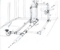 basement bath rough in diagram