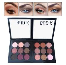 bud k new 9 colors natural matte eyeshadow eye makeup kit waterproof metallic shimmer palette cosmetics set