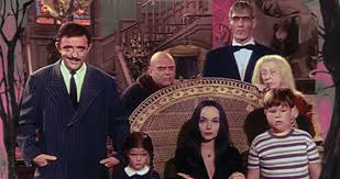 the addams family cast photo in color addams family set