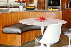 modern curved kitchen island. Modern Curved Kitchen Island With Bench Seating