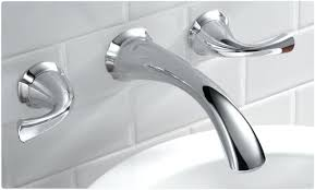 wall mount bathroom faucet delta two handle for mounted bathtub faucets prepare 5 sink oil rubbed
