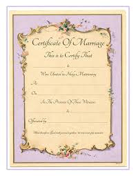 Antique Marriage Certificate Template Lissette