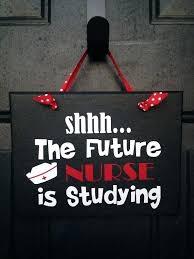 Captivating Dorm Door Signs Future Nurse Studying Sign College Please Be Quiet Room Funny  Bedroom