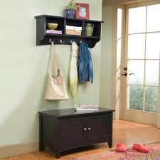 Coat Racks With Storage Bench Alaterra Shaker Cottage Storage Bench and Coat Rack Set Hayneedle 34