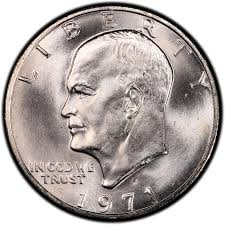 1971 Half Dollar Value Chart 1971 Eisenhower Dollar Values And Prices Past Sales
