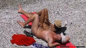 Nudist mature wife giving handjob on beach voyeur on GotPorn 6339953