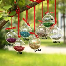 Decorating Clear Christmas Balls Dia100cm Clear Glass Balls silver top Shiny Glitter In Glass 2
