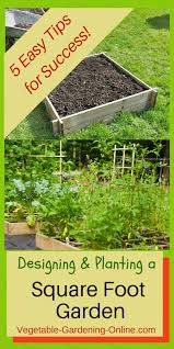 Small Picture Square Foot Garden Designs Tips and Plans