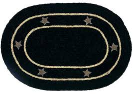 oval rug burlap star black jute x in area rugs furniture source branches for s open now