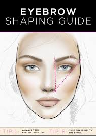 eyebrow shaping guide getting the best brow for your face
