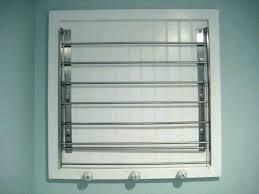 wall mounted laundry racks h white accordion