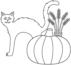 Small Picture Black Cat Coloring Page Click The Halloween Cat On Pumpkin Near