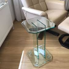 a design glass side table with facet cut glass square gt design netherlands