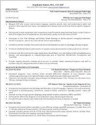 Speech Pathology Resume Examples Speech Language Pathology Resume Mesmerizing Speech Language Pathology Resume