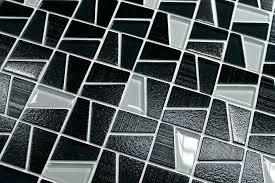 black glass mosaic tiles black glass tile black textured and platinum mosaic tiles rocky point tile