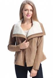 bgsd women s callie sherpa suede leather jacket plus size com