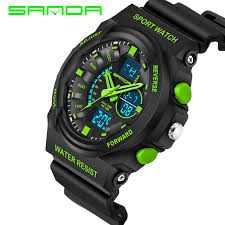 cool sport watches promotion shop for promotional cool sport sanda fashion watch men g style waterproof sports military watches s shock men s watches led digital watch relogio masculino