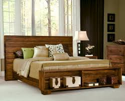 solid wood platform storage bed