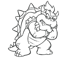 Bowser Coloring Pages For Children Chronicles Network
