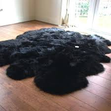 black sheepskin rug costco