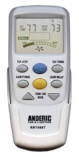 anderic replacement for hampton bay chq7096t with fan timer key thermostatic remote control for hampton bay ceiling fans fcc id chq7096t uc7096t chq87096t