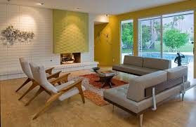 mid century living room ideas. bright modern living room design with view of the swimming pool mid century ideas