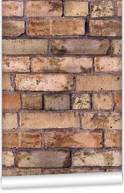 kemra old brown bricks wallpaper