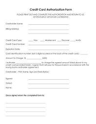 Credit Card On File Form Templates Credit Card On File Authorization Form Template