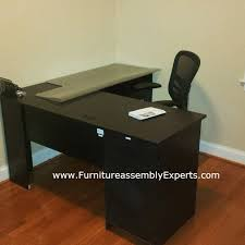 staples office desk by bush furniture assembled in chevy chase md by furniture assembly experts llc call 2407052263