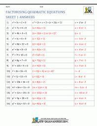 handsome factoring quadratic equations solving polynomial worksheet solving polynomial equations worksheet worksheet um