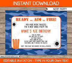 Blue Camouflage Party Decorations Army Party Printables Invitations Decorations