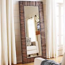 floor mirror. Vintage Wood Floor Mirror