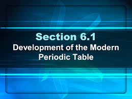 Chapter 6 The Periodic Table & Periodic Law. Section 6.1 ...