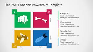 Free Flat Swot Analysis Presentation Template